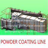 Высокое качество Traverse Move Powder Coating Line для Space Saving