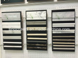 Mosaico di marmo bianco e nero poco costoso di prezzi delle mattonelle di pavimento della stanza da bagno,