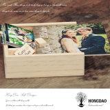 [هونغدو] [ودّينغ دي] عالة علامة تجاريّة خشبيّة [فوتو لبوم] صندوق مع [أوسب] تعليب لأنّ هبة [إ]