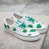 Auténticos de encargo vulcanizan la zapatilla de deporte unisex de la manera de la lona de los zapatos ocasionales