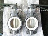 Tipo válvula da bolacha de Wcb de borboleta com o disco CF8 e o assento de PTFE