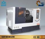 Máquina inclinada do torno do CNC da base com Tailstock (CK40L)