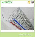 Усиленный PVC шланг воды весны сада трубы стального провода