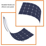 Vente en gros semi flexible mono conçue personnalisée de panneau solaire de 100W 18V