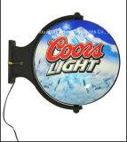 De muur zette LEIDENE van de Cokes en van het Bier Lichte Doos voor Vertoning op
