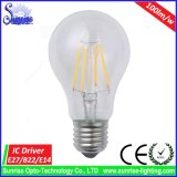 E27 Edison 4W 백열 LED 필라멘트 전구