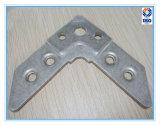 粉のコーティングが付いている電流を通された鋼鉄から成っている角度の角ブラケット