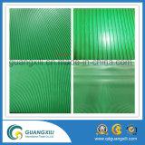 Hoja de goma antideslizante de fina costilla de goma verde