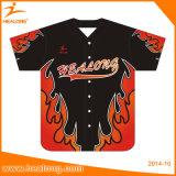 Healong Sublimation Soem-kundenspezifischer Form-Baseball Jersey