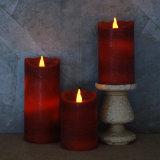 Kerze des rote Farben-flammenlose bewegliche duftende Pfosten-LED