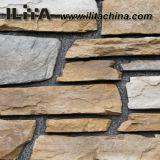 Placage artificiel en pierre de pierre de revêtement de mur en pierre de culture (YLD-76003)