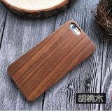 Le bois en bois carbonisé de noix de pécan a fait le dessin-modèle pour la caisse de téléphone en bois 6 de l'iPhone 5