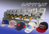 6 máquinas automáticas principales del bordado de la camiseta/del sombrero del Snapback con centenares liberan diseños del bordado