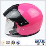 빛 자주색 열리는 마스크 기관자전차 또는 스쿠터 헬멧 (OP211가)