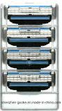 Venta caliente máquina de afeitar de 3 capas para el Mach 3 de Gillette en cuenta original del rectángulo 4 con la maneta libre