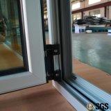Thermisches Bruch-Aluminiumprofil-inneres Neigung-und Drehung-Fenster mit multi Verschluss, Aluminiumfenster, Fenster K04012