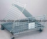 Stackable сложенный гальванизированный сваренный сталью контейнер ячеистой сети