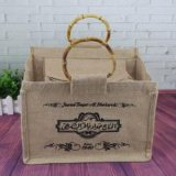 Umweltfreundlicher Kombinations-Einkaufentote-Beutel der Baumwolle-10oz und Jutefaser-