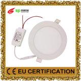 Свет врезанный СИД светильника круглый панели освещения AC85-265V