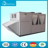 Éléments emballés de climatiseur de dessus de toit de Dx refroidis par air, acier galvanisé double par peau