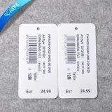 Étiquette de papier faite sur commande de coup d'approvisionnement d'usine pour le vêtement ou le bagage