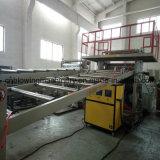 Cadena de producción de piedra de mármol artificial plástica del perfil del PVC
