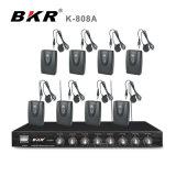 Sistema del micrófono de Bodyapck de los canales de K-808A 8