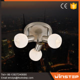 3つのガラスのクロム天井ランプを食事する新しい方法E14チップ
