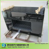 Material do flutuador Curved Tempered Range Hood Glass