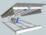 Неподвижный гидровлический разравниватель нагрузки контейнера и разгржать стыковки