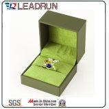 Rectángulo de regalo de cuero del embalaje de la mancuerna del brazalete del presente del recuerdo del rectángulo de almacenaje de la joyería del terciopelo (YSP135)