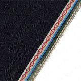 ткань сплетенная хлопком 100% джинсовой ткани края жаккарда 10.65oz джинсыов 10011V