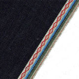 10.65ozジャカード端の100%年の綿によって編まれるデニムのジーンズファブリック10011V