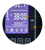 ランプの出力12VDC/2Aが付いているLCDのサウナのサーモスタットの温度調節器