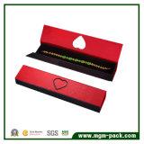 Vakje van de Juwelen van het Document van het Karton van de douane het Rode
