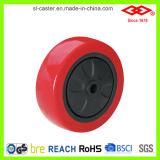 빨간 PU 피마자 바퀴 (P104-26E100X30)