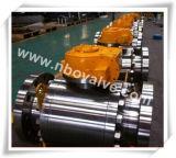 """3 morceaux de la vitesse CF8m/CF8/CF3/4A d'acier inoxydable de robinet à tournant sphérique duplex (48 """" - 600LB)"""