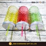 Vaso di muratore di vetro impresso 720