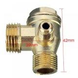Connecteur de soupape de contrôle du compresseur d'air fileté mâle en alliage à 3 orifices
