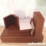 Классицистическое красное деревянное как коробка подарка упаковки Jewellery