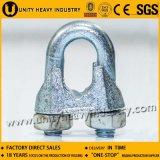 Clips malléables de câble métallique DIN 741 Galv