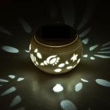 DEL allumant les lumières actionnées solaires extérieures en céramique de Tableau avec Ce&Rhos