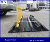 Rampe flexible de câble de plancher de la Manche en caoutchouc 3 qualité chaude 100% de vente de la grande