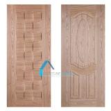 Pieles moldeadas estilo de la puerta del panel HDF de la chapa y del pan de la ceniza del Ep