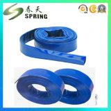 Mangueira resistente da descarga do PVC Layflat da cor azul/tubulação de mangueira lisa colocada agricultura