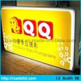 Acrylique de DEL annonçant le vide de aspiration formant le cadre léger