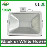 Nuevo estilo luz blanca o negra de 100W del LED del sensor de inundación
