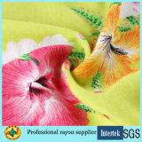 Ткань рейона печати леопарда для ткани платьев женщин