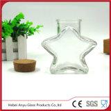 Garrafa de presente de vidro vazia com forma de estrela com cortiça
