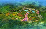 Representación del plan del jardín del diseño del paisaje con alta calidad